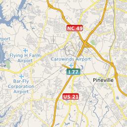 CLT Charlotte Douglas International Airport - Charlotte us map